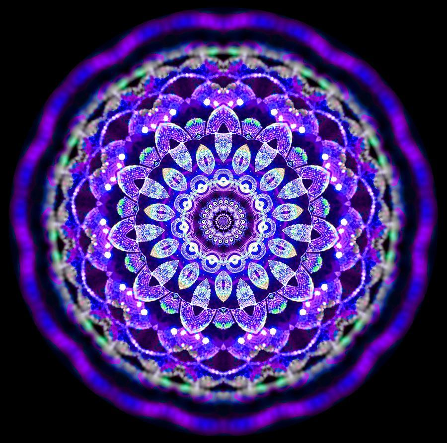Ammersee Cropcircle Lightmandala Morph Digital Art by Robert Thalmeier