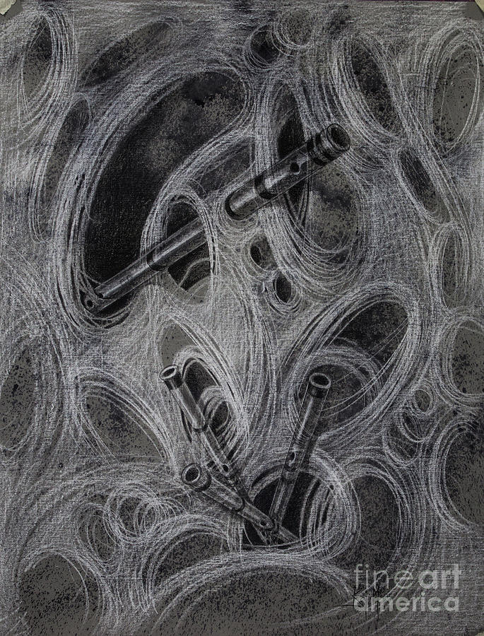 Perception Drawing - Amodal Perception 5 by Raj Maji