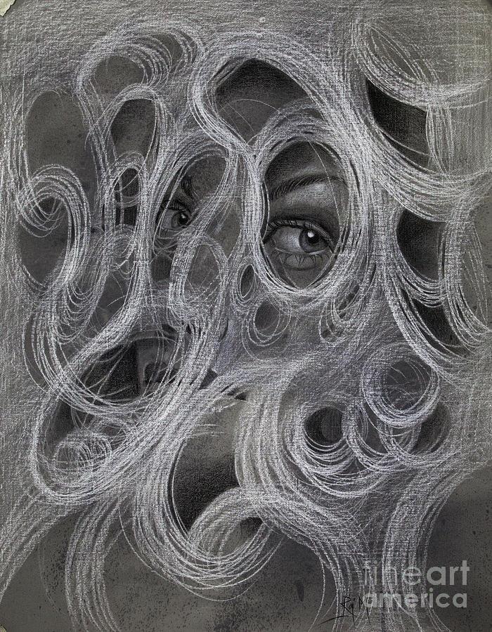 Perception Drawing - Amodal Perception 6 by Raj Maji