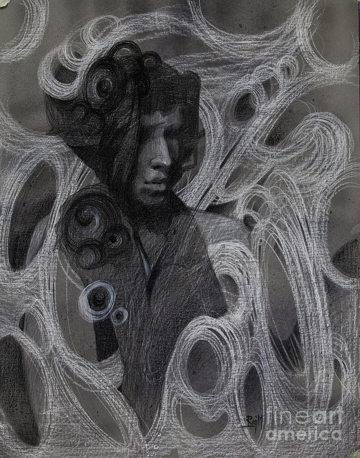 Perception Drawing - Amodal Perception 7 by Raj Maji