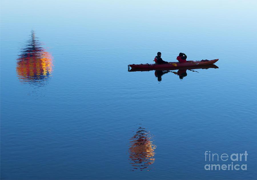 Kayak Photograph - Among The Heavens by Mike Dawson