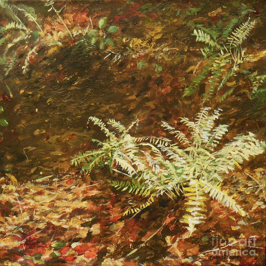 Ferns Painting - Among the Leaves by Carla Dabney