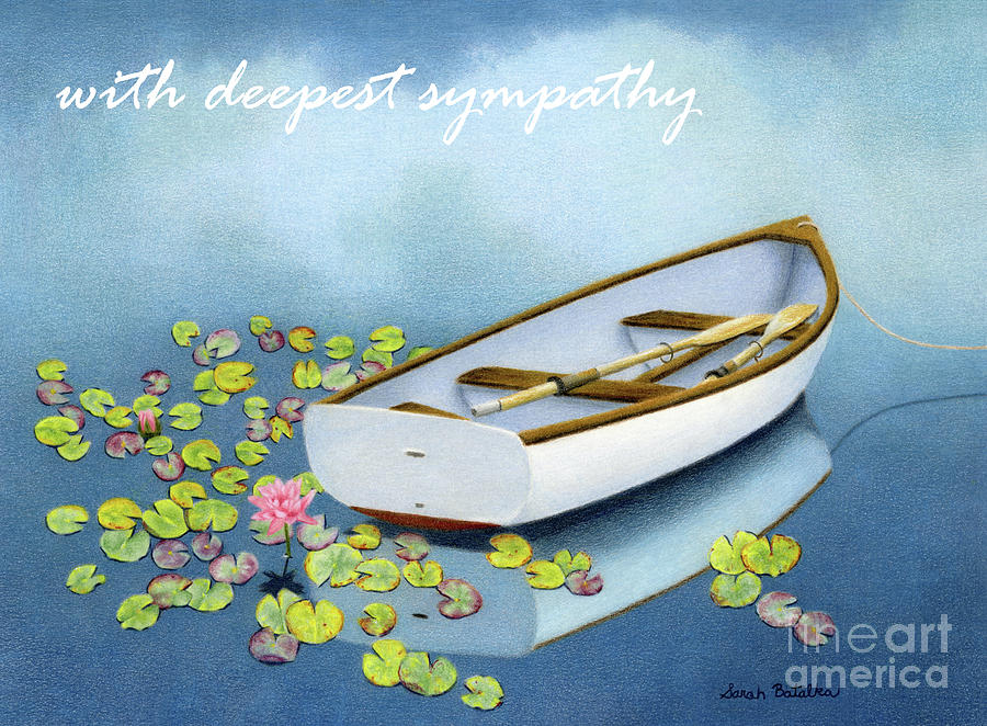 Sympathy Painting - Among The Lily Pads- Sympathy Cards by Sarah Batalka
