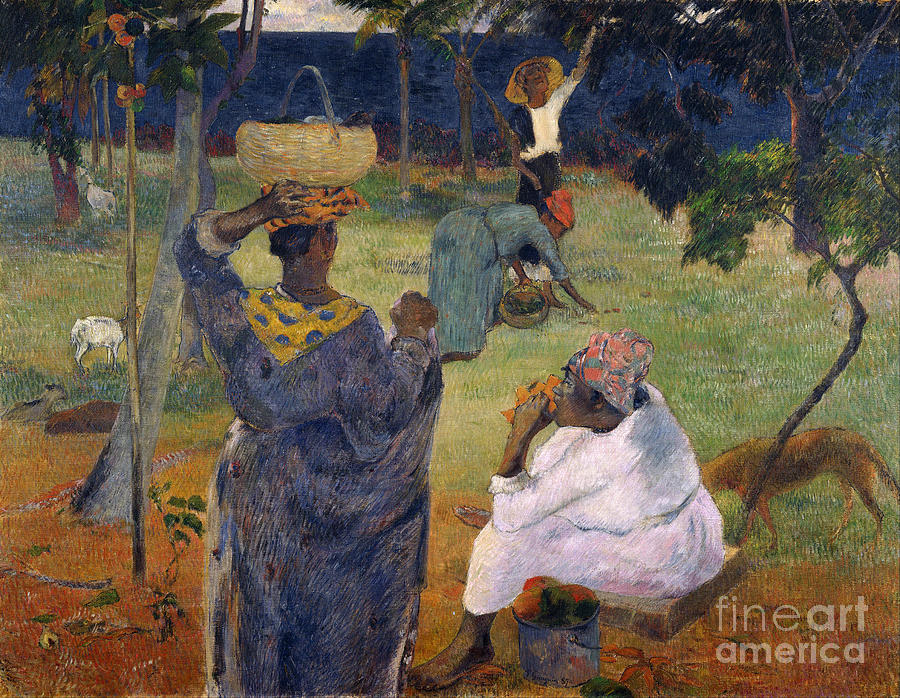 Paul Painting - Among The Magoes At Martinique by Gauguin