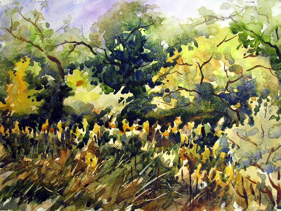 Watercolor Painting - Amongst The Goldenrods by Chito Gonzaga