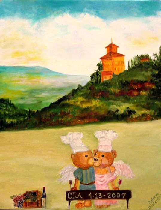 Graduation Day Painting - Amore Chefs by Colleen DalCanton