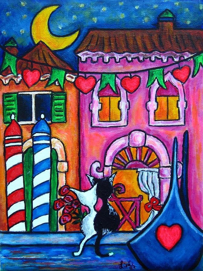 Cats Painting - Amore In Venice by Lisa  Lorenz