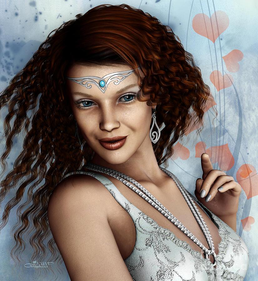 3d Digital Art - Amorous by Jutta Maria Pusl