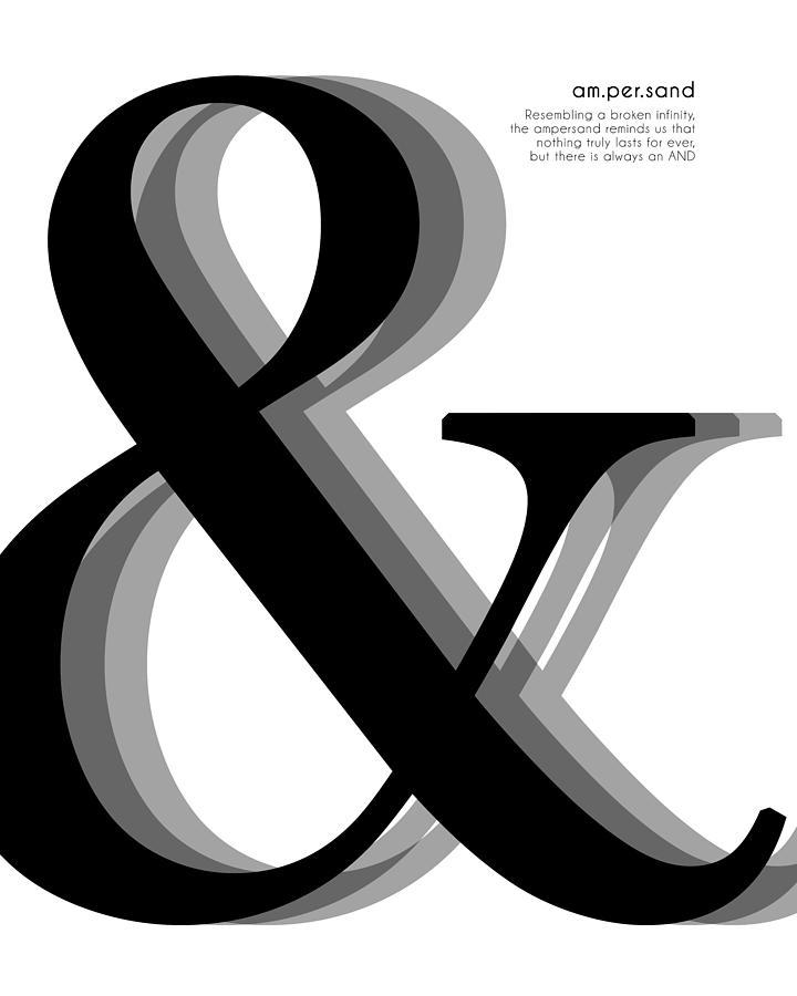 Black /& White Art Minimal Art Scandinavian Print 11x14 in Print Avenue Ampersand Print Modern Art 30x40 cm Typography Symbol Print