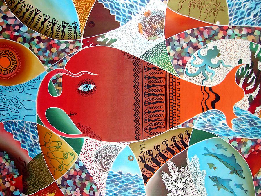 Impressionism Painting - amphora-fish by Krivoshei Ekaterina