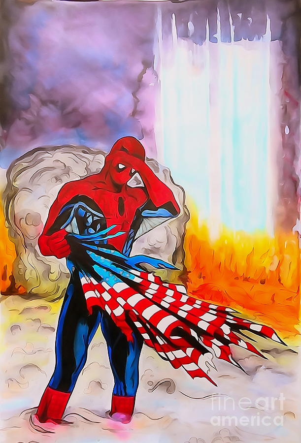 Justin Moore Digital Art - Ams 9/11 Tribute Illustration Edition by Justin Moore