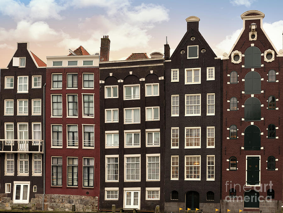 Amsterdam Photograph - Amsterdam Architectre At Twilight by Jane Rix