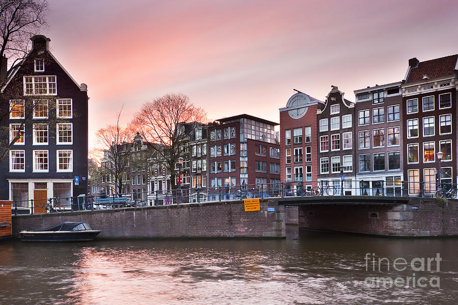 Age Photograph - Amsterdam At Sunset by Andre Goncalves