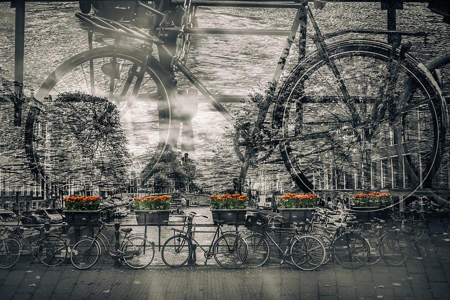 Amsterdam Photograph - Amsterdam Bicycle Nostalgia by Melanie Viola