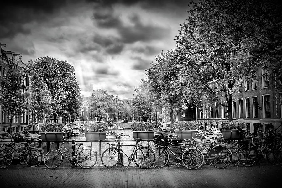 Amsterdam Photograph - Amsterdam In Monochrome  by Melanie Viola