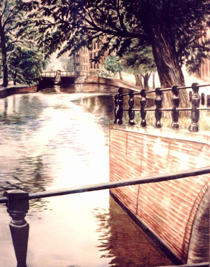 Landscape Drawing - Amsterdam by L Lauter