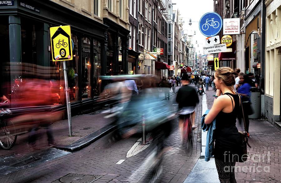 Motion Photograph - Amsterdam Street Speed by John Rizzuto