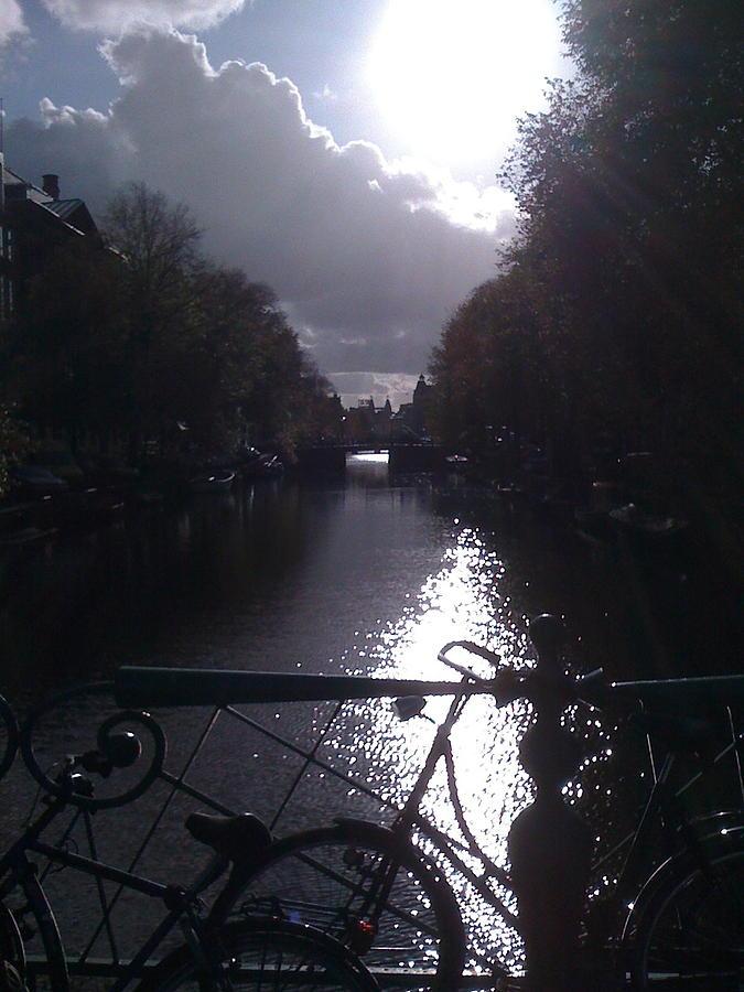 Amsterdam Photograph - Amsterdam Sunrise by Caroline Reyes-Loughrey