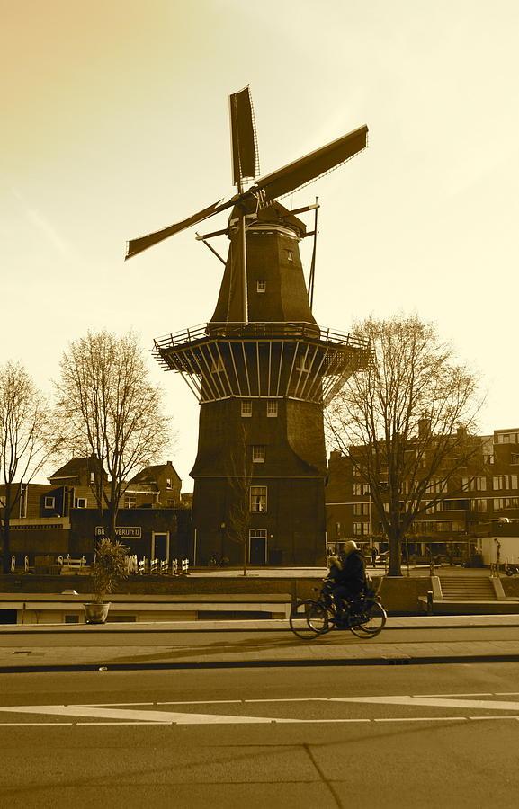 Amsterdam Photograph - Amsterdam Windmill by Matthew Kennedy