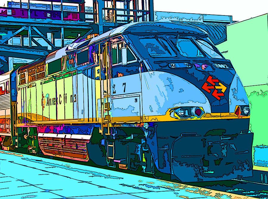 Amtrak Photograph - Amtrak Locomotive Study 2 by Samuel Sheats