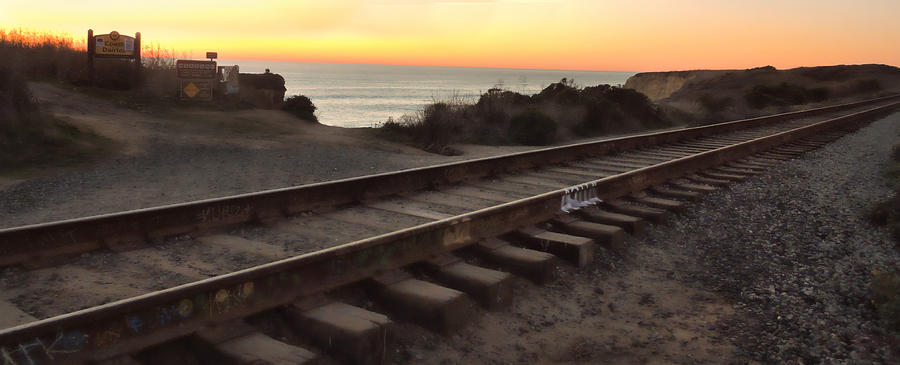 Amtrak On The Pacific Photograph