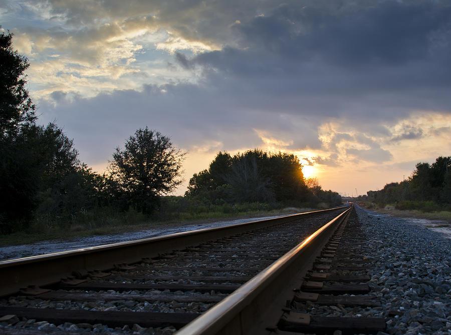 Train Photograph - Amtrak Railroad System by Carolyn Marshall