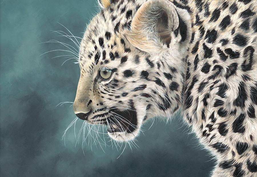 Cat Painting - Amur Leopard Cub by Clive Meredith