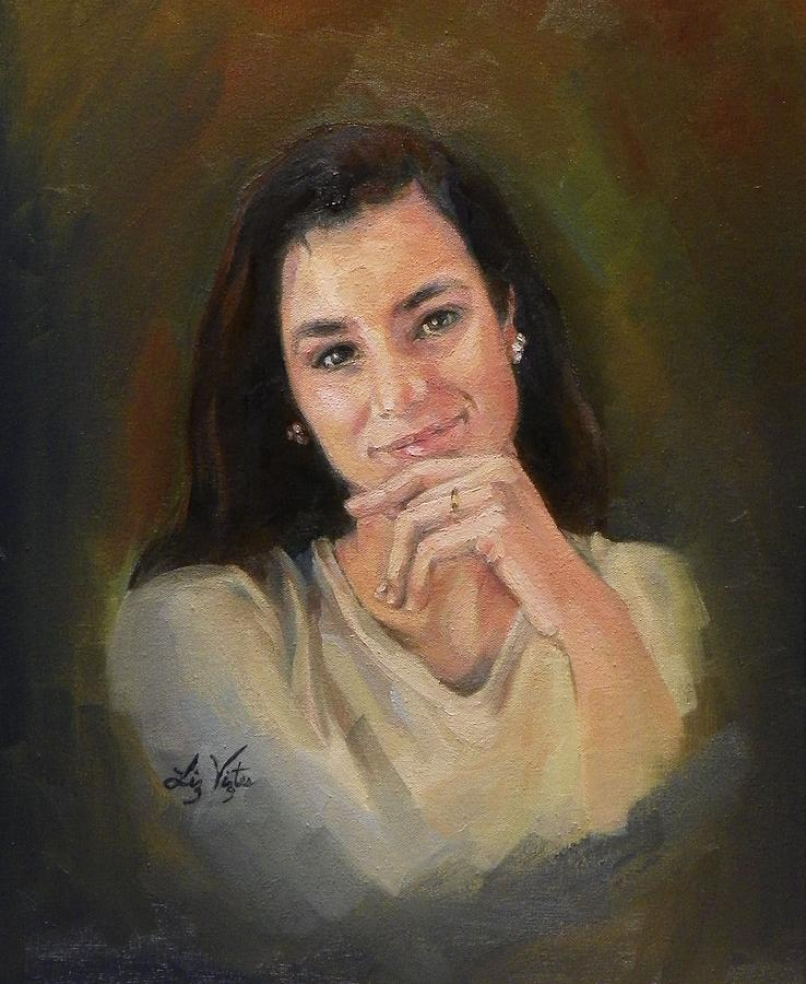 Portrait Painting - Amused by Liz Viztes
