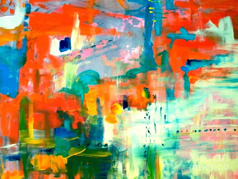 Abstract Painting - Amusement by Jane Ferguson