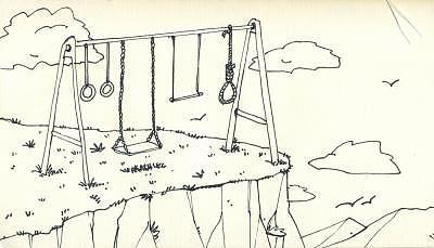 Cartoon Drawing - Amusement Park 2 by Miguel Herranz