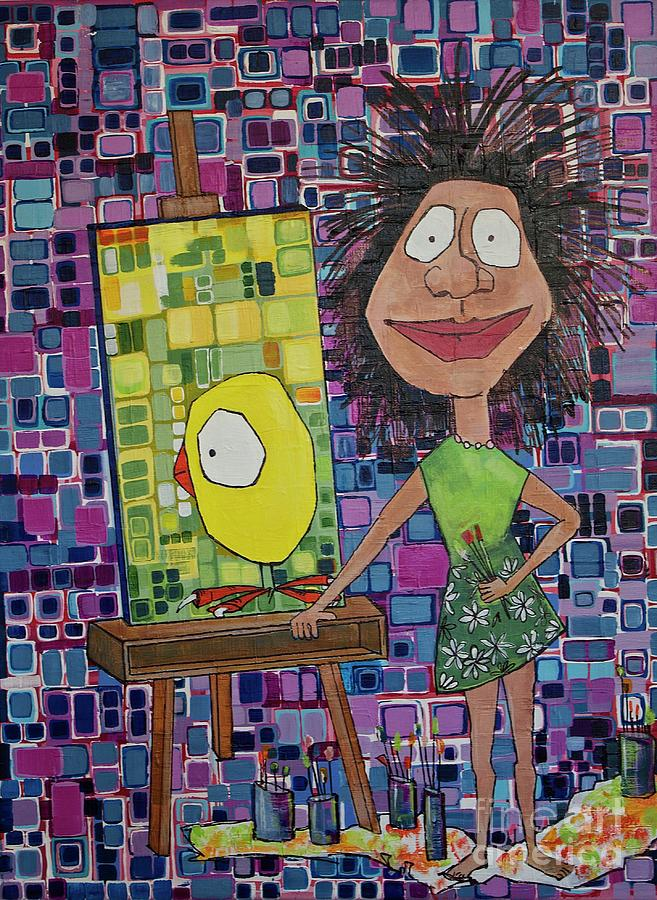 Artist Painting - amy by Donna Howard