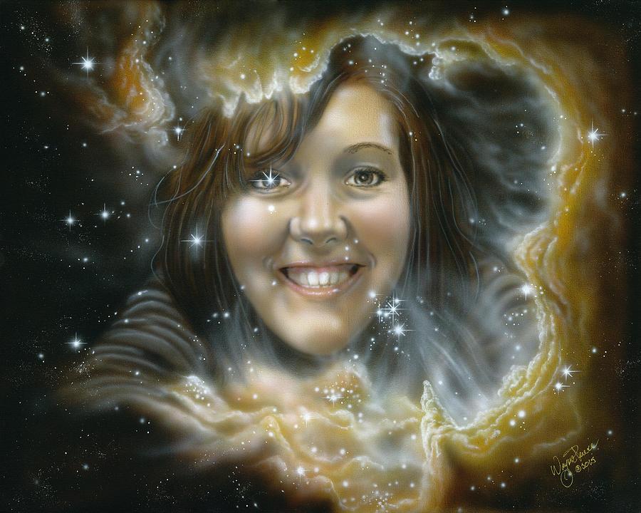 Amy Painting by Wayne Pruse
