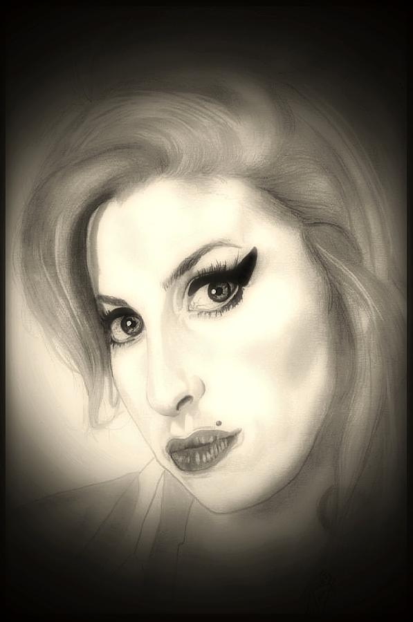 Amy Winehouse Drawing By Fred Larucci