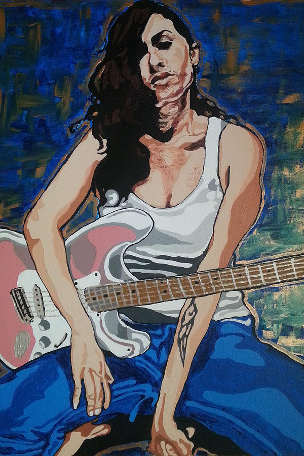 Amy Winehouse Painting - Amy Winehouse by Rachel Natalie Rawlins