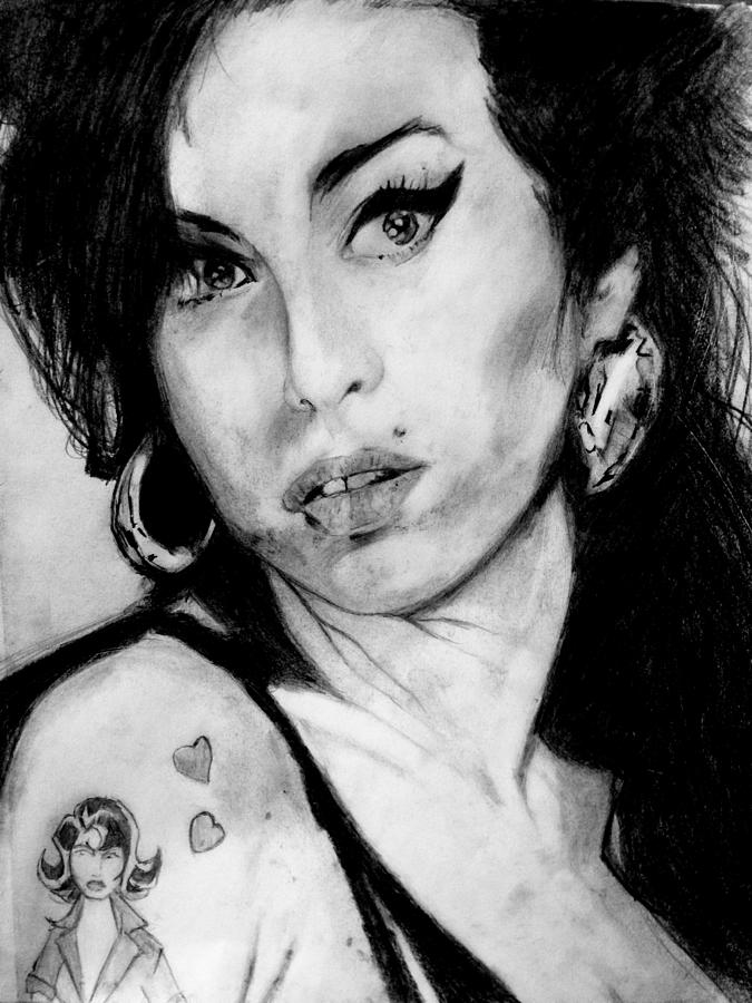 Amy Winehouse Drawing By Thomas Everett