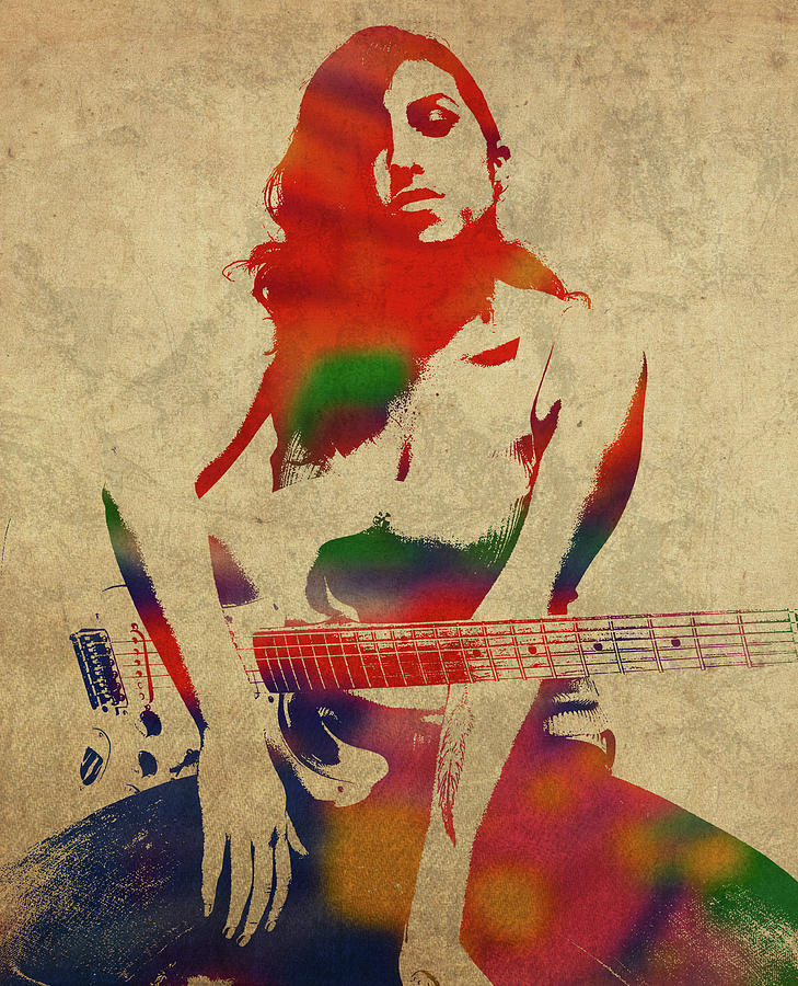 Amy Winehouse Mixed Media - Amy Winehouse Watercolor Portrait by Design Turnpike