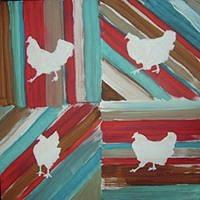 Country Painting - Amys Chickens by Sarah LaRose Kane