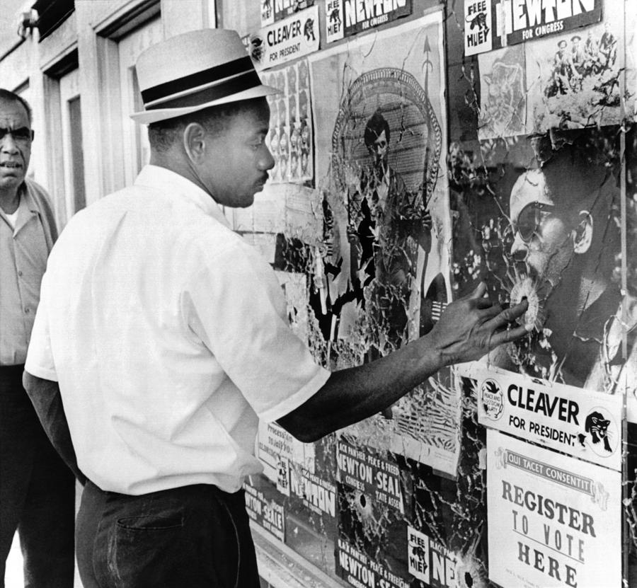 History Photograph - An African American Pokes His Finger by Everett