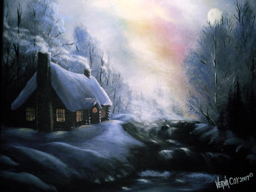 An Alaskan Night Painting by Verna Coy