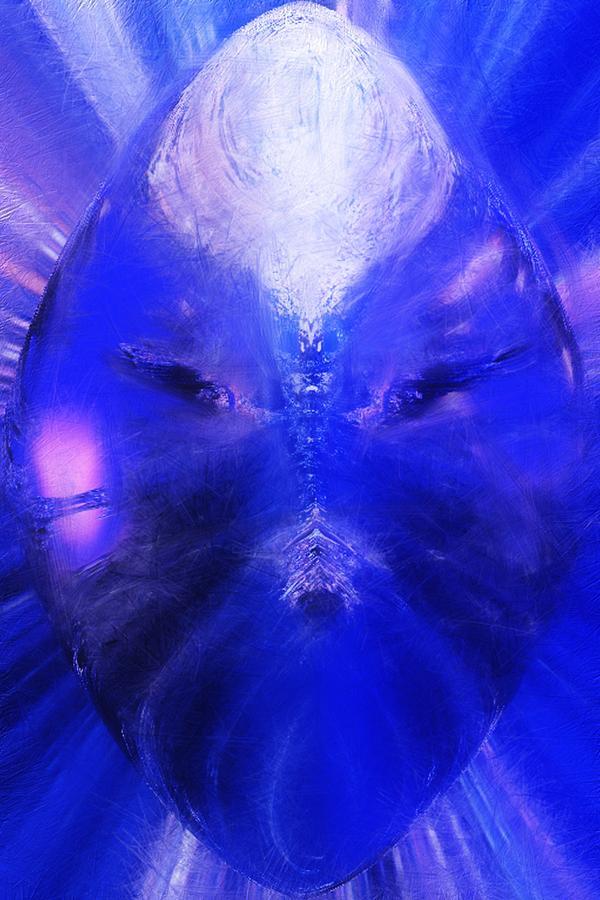 Abstract Digital Art - An alien Visage  by David Lane