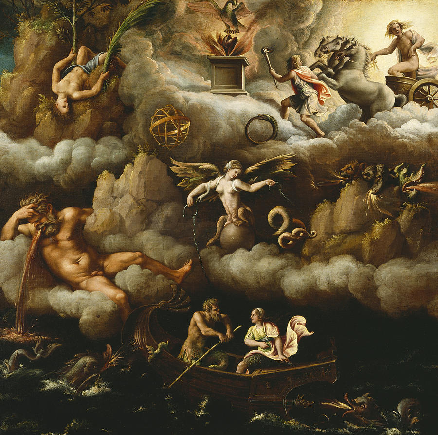 Romano Painting - An Allegory of Immortality by Giulio Romano