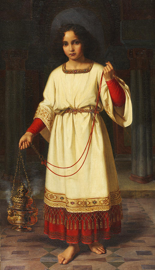 Robe Painting - An Altar Boy by Abraham Solomon