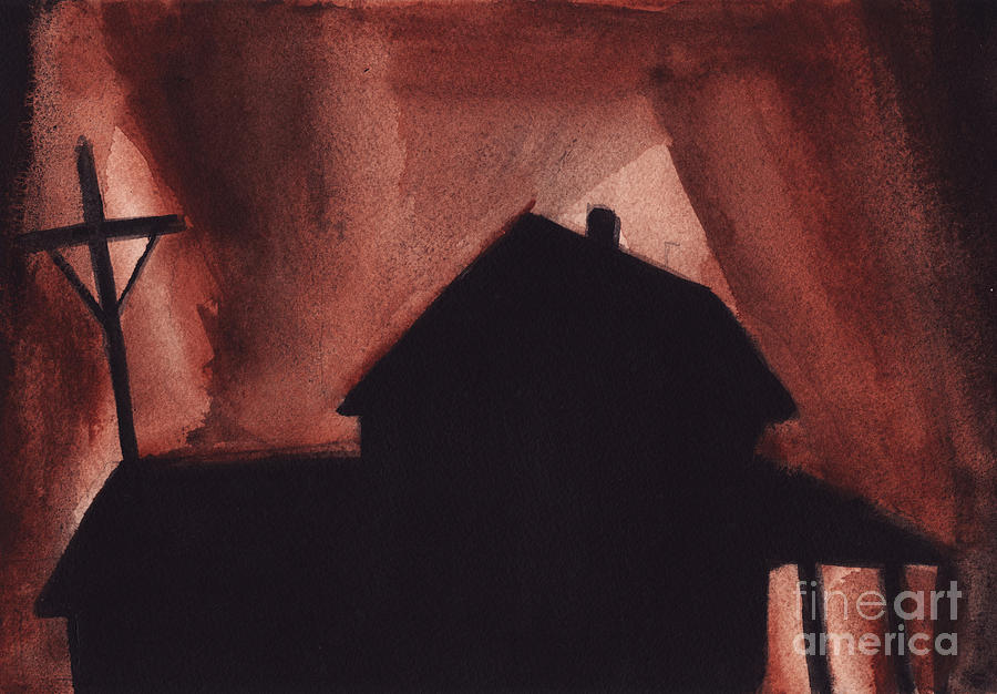 Landscape Painting - An American House by Ron Erickson