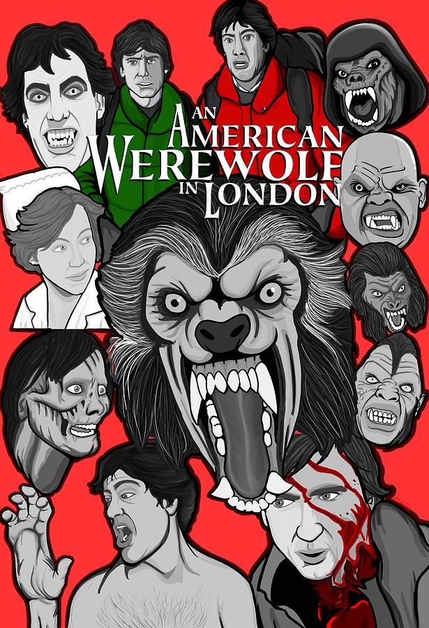 Horror Painting - An American Werewolf In London by Gary Niles