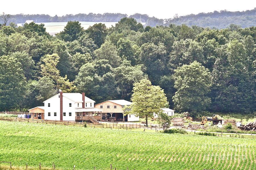 Landscape Photograph - An Amish Farm by Penny Neimiller