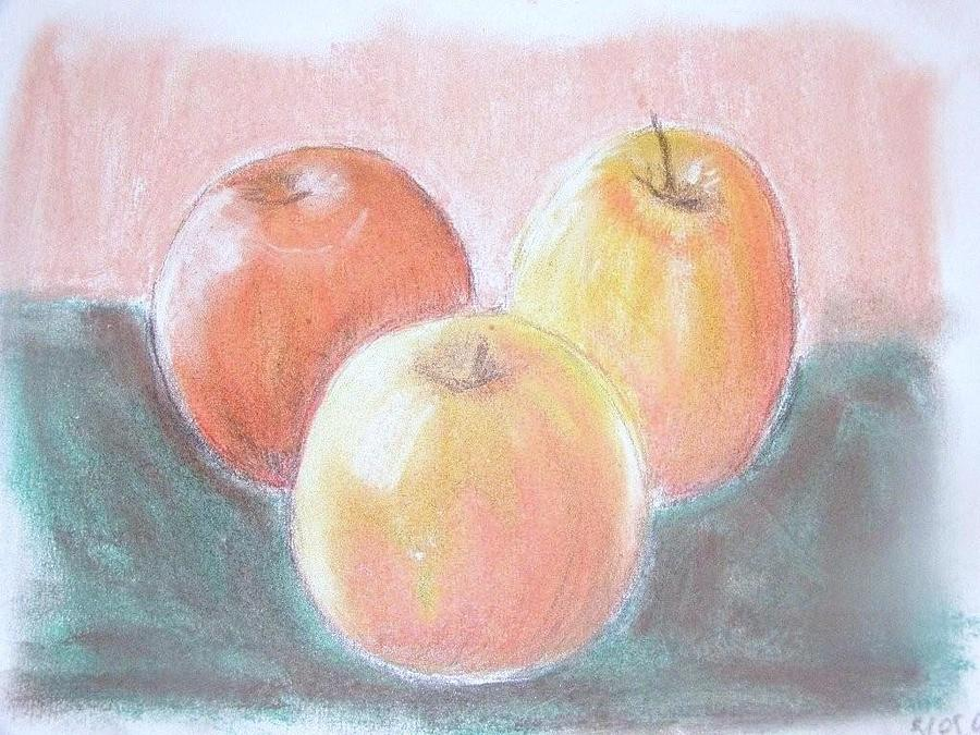 Pairs Painting - An Apple A Day . .  by Joanna  Kasprzak