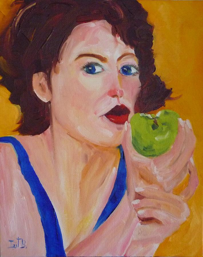 Figurative Painting - An Apple A Day by Irit Bourla