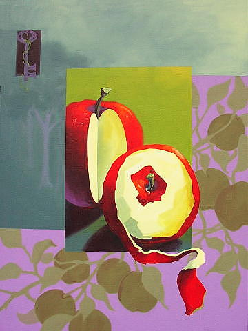 Still Life Painting - An Apple A Day by Sonja Donnelly