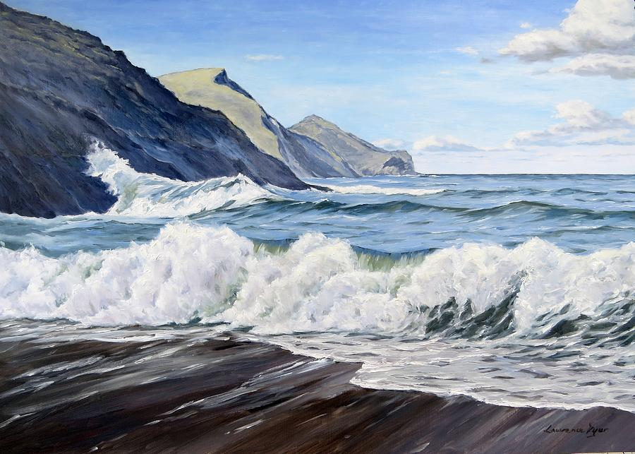 Crackington Haven Painting - An April Morning At Crackington Haven by Lawrence Dyer