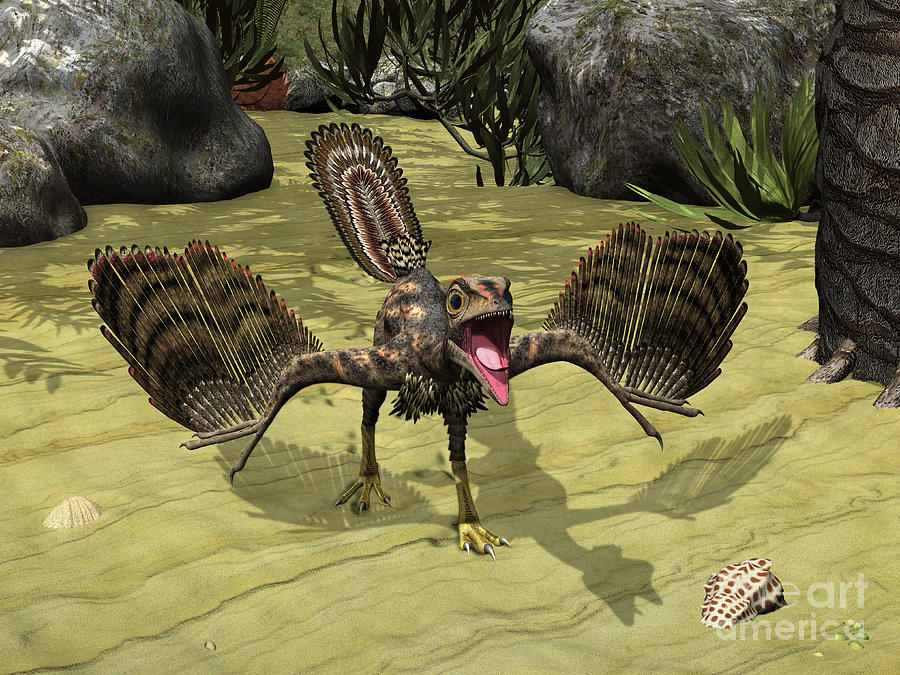 Nature Digital Art - An Archaeopteryx Depicted by Walter Myers